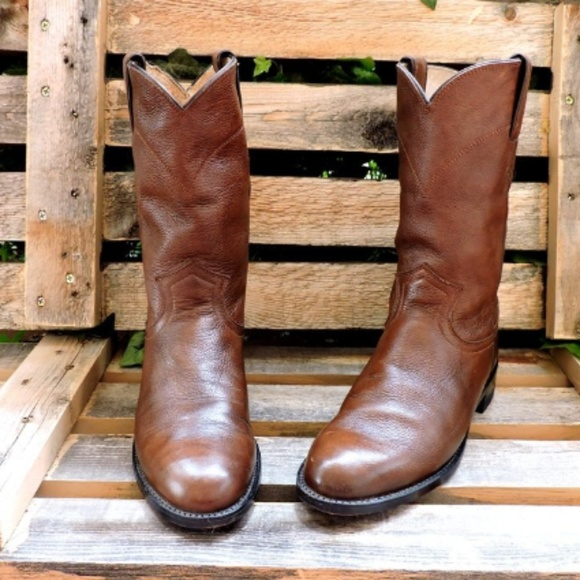 493c9128caa77 Vintage Justin Boots/Ropers, Leather Cowboy boots